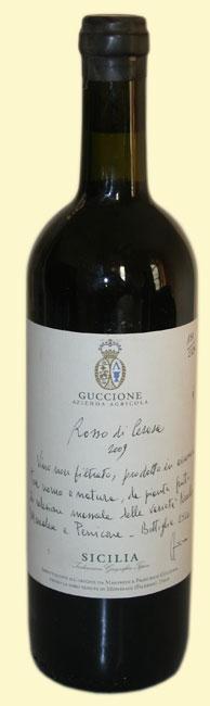 Guccione, Rosso Cerasa 2009, vino biodinamico sicilia